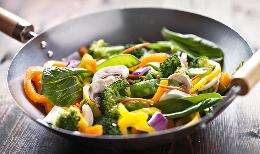 Stir-Fry Vegetables with Brown Rice
